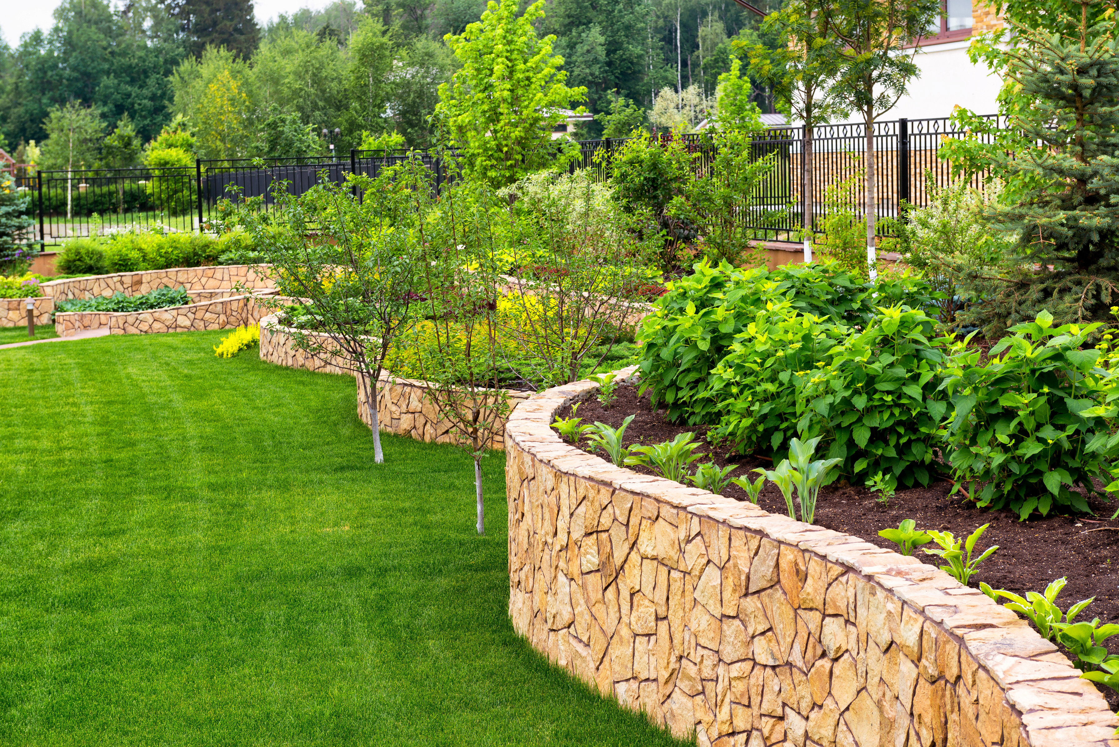 rock wall landscaping retaining wall landscape boulders and rock walls dd landscaping logan utah